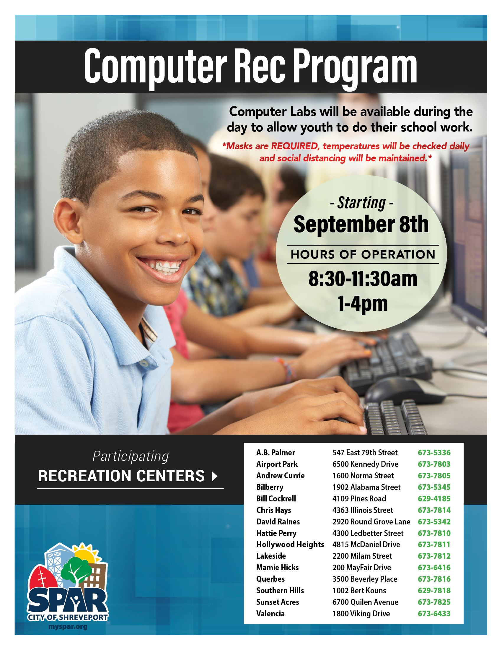 2020 0901 Youth Rec Computer Lab FB