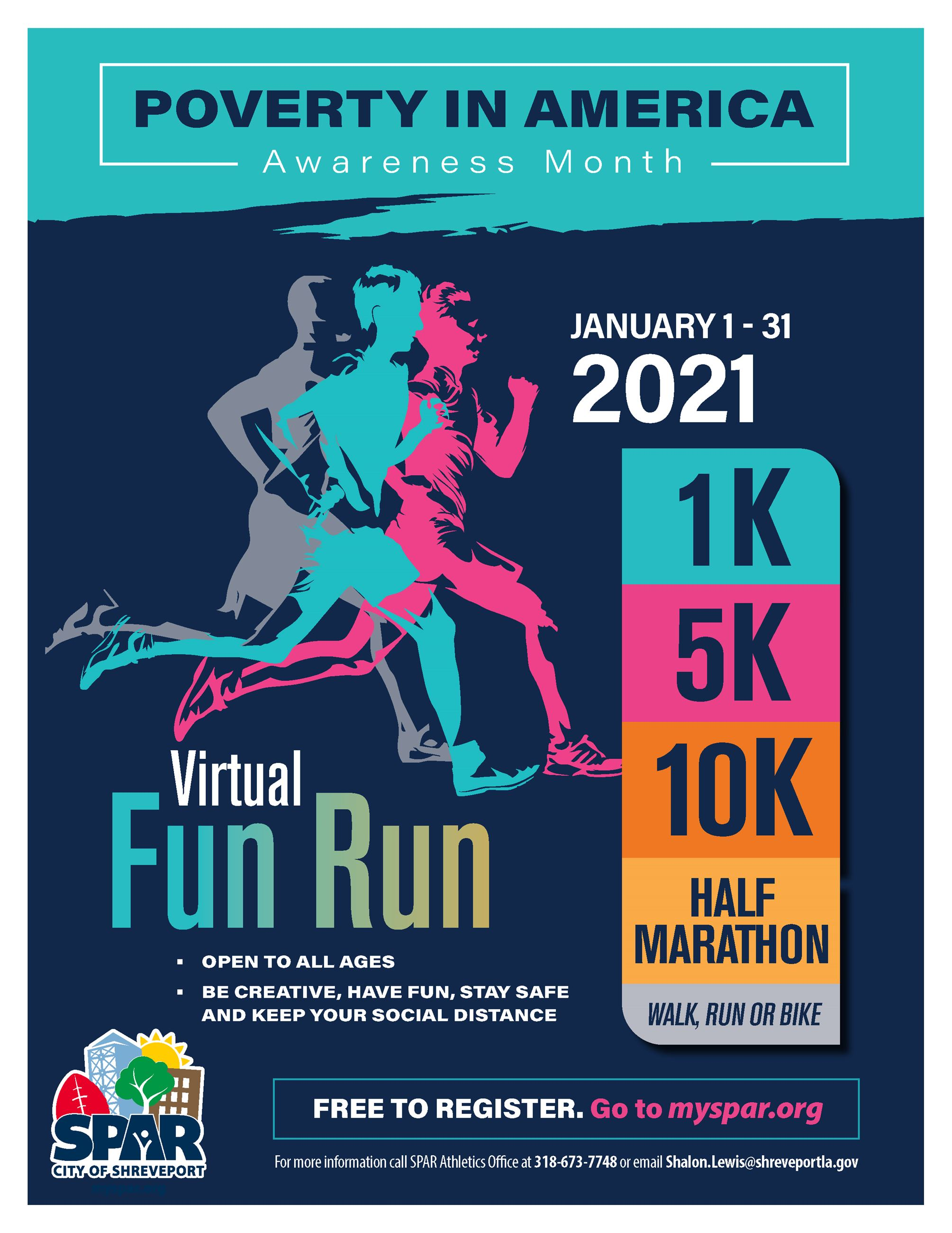 2021 01 Poverty virtual fun run FLYER